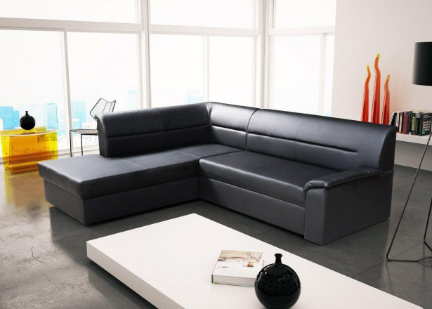 ELANO - Canapé d'angle gauche convertible