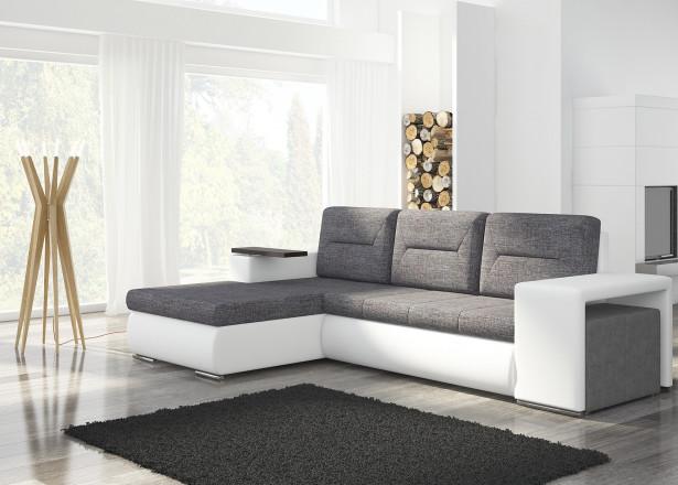 OCTANS - Canapé d'angle gauche convertible