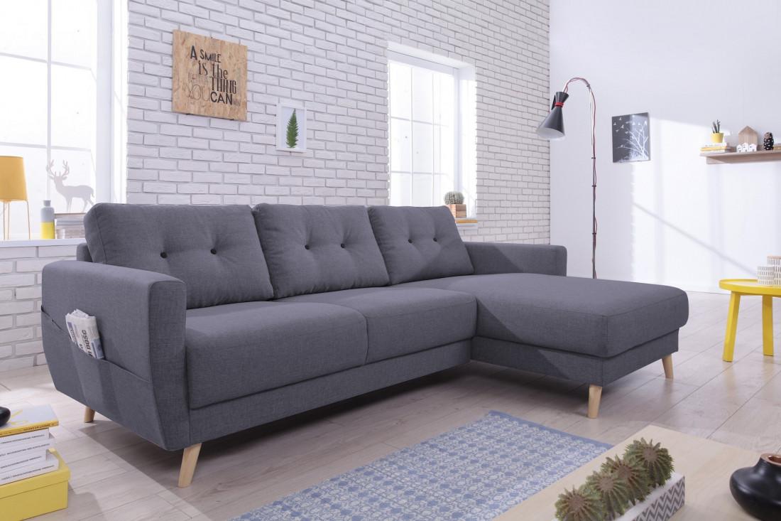 SCANDI - Canapé d'angle gauche - 225x147x86cm