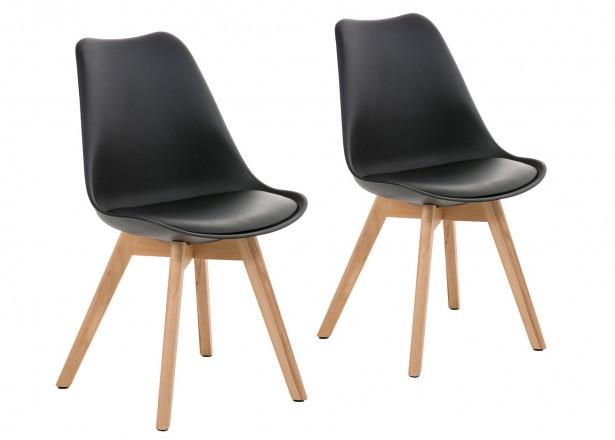 Malmö - Chaise design scandinave - Noir