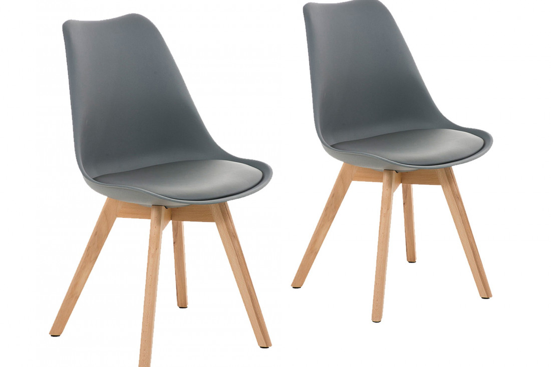 Malmö - Chaise design scandinave - Gris