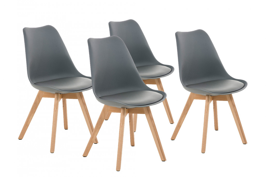 Malmo chaise design scandinave gris - Chaises design grises ...