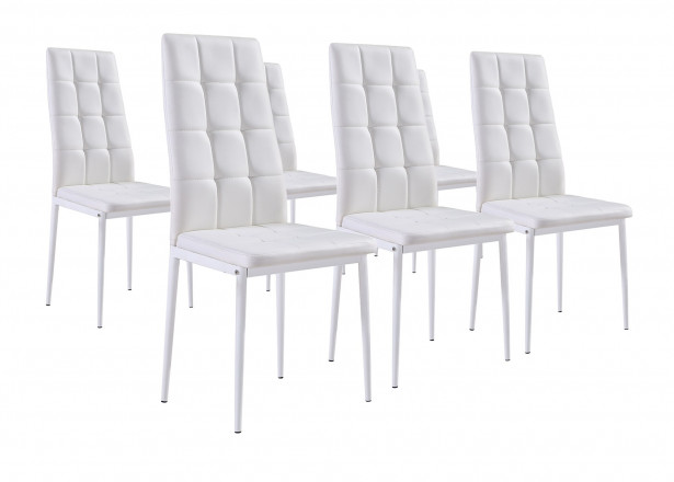 NINA Gris - Lot de 6 chaises
