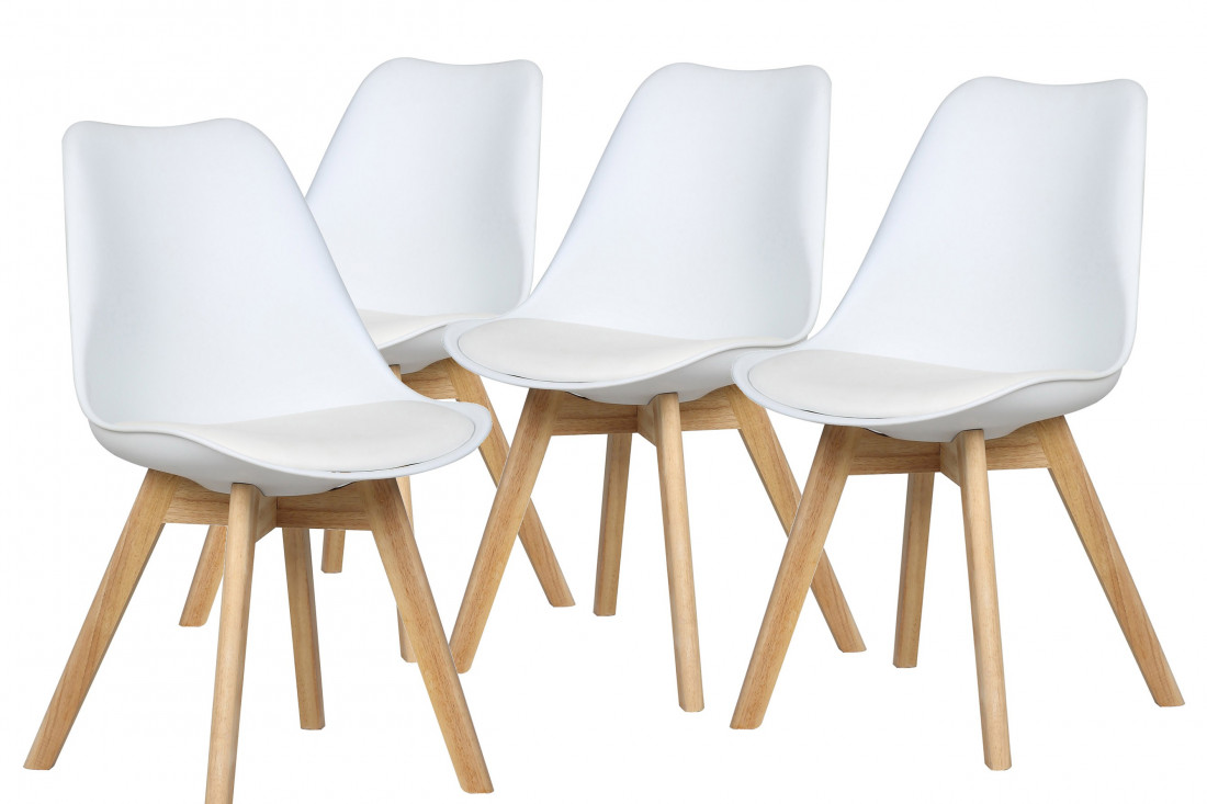 Malmö - Chaise design scandinave - Blanc