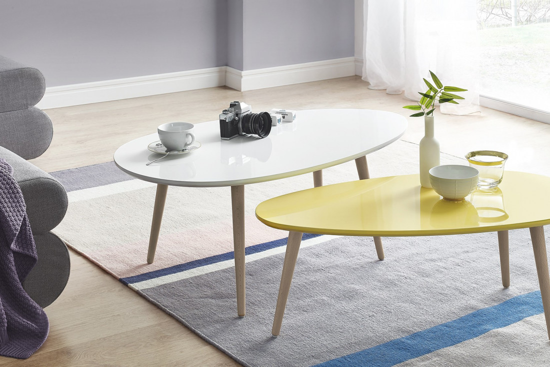 tables basses gigognes scandinaves lot de 2 mdf laqu. Black Bedroom Furniture Sets. Home Design Ideas