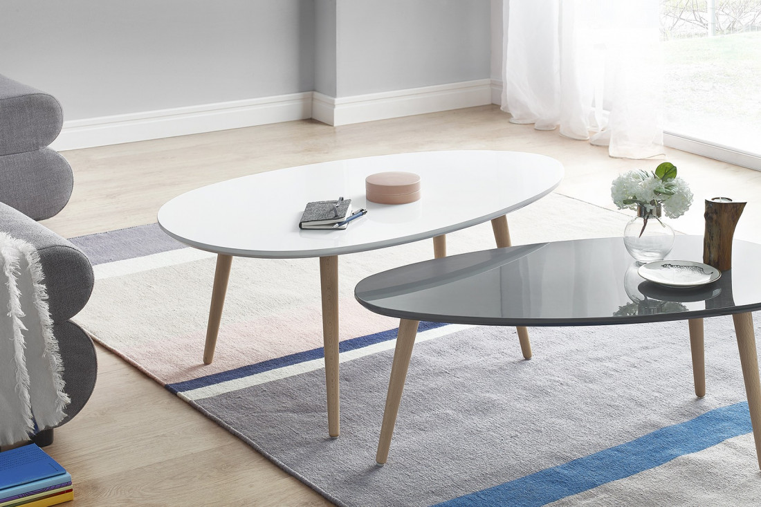 Best table basse laqua blanc pictures awesome interior for Table basse scandinave gris et blanc