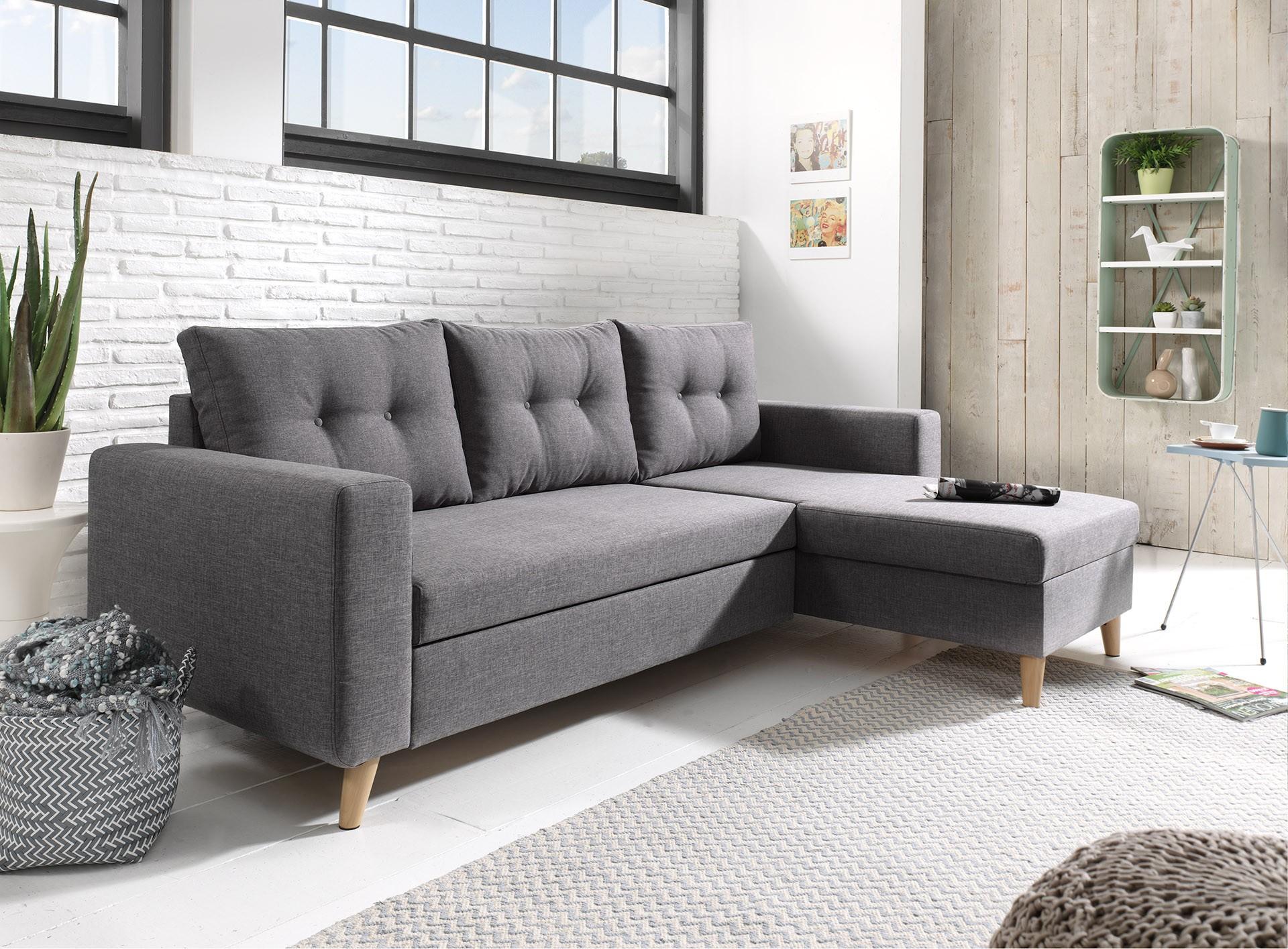 Nordic - canapé gris foncé d angle réversible convertible style scandinave 9996848132ce