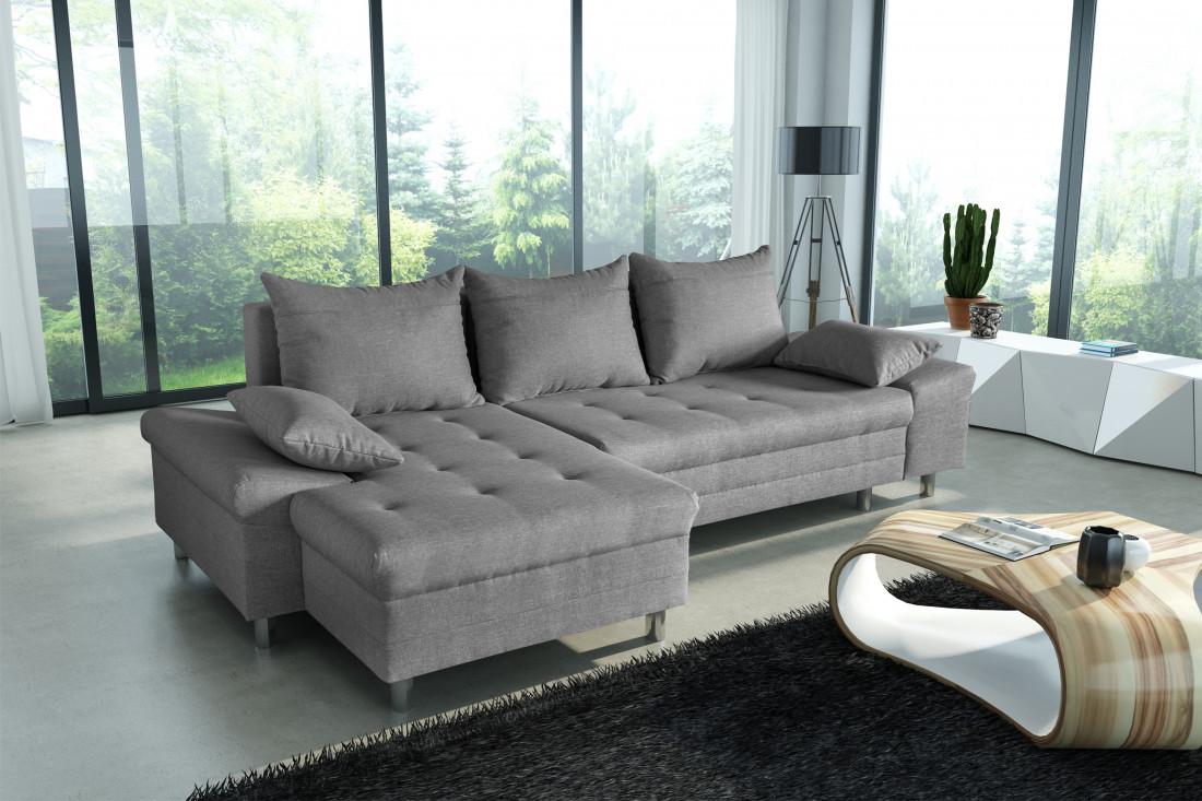 SAN DIEGO Gris canapé d\'angle gauche - Lisa Design