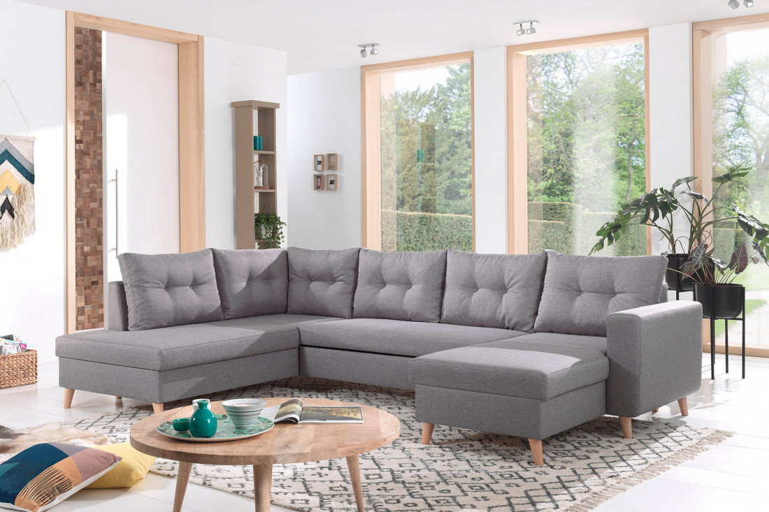 nordic canap scandinave d angle panoramique convertible. Black Bedroom Furniture Sets. Home Design Ideas