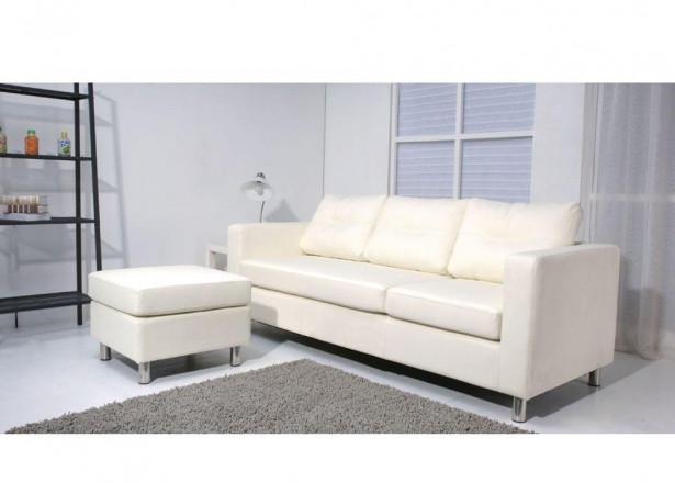 SOFIA blanc canapé d'angle