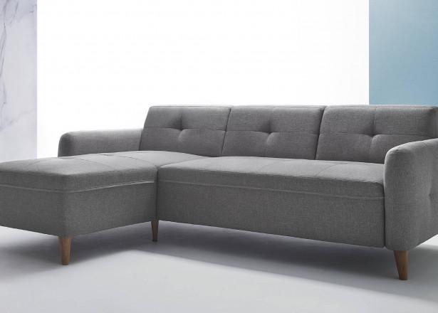 Kurina - canapé d'angle réversible - en tissu - 3 places