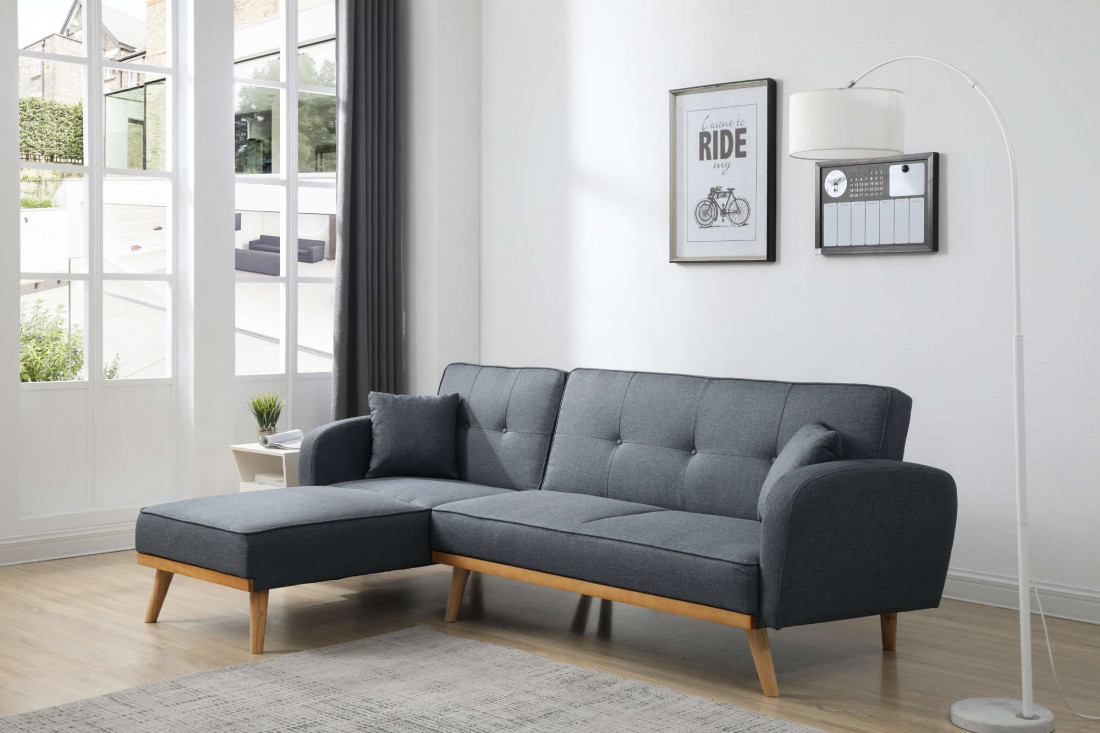 viking canap d 39 angle r versible convertible en tissu au. Black Bedroom Furniture Sets. Home Design Ideas