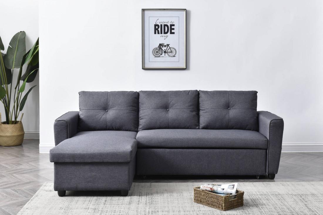Soho - Canapé d'angle réversible convertible - design moderne - 4 places - avec coffre