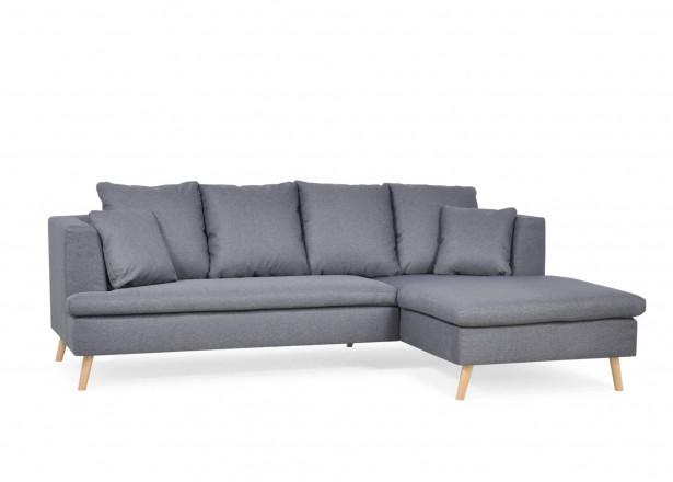 Carl - Canapé d'angle fixe - 4 places - design scandinave - en tissu - Droit