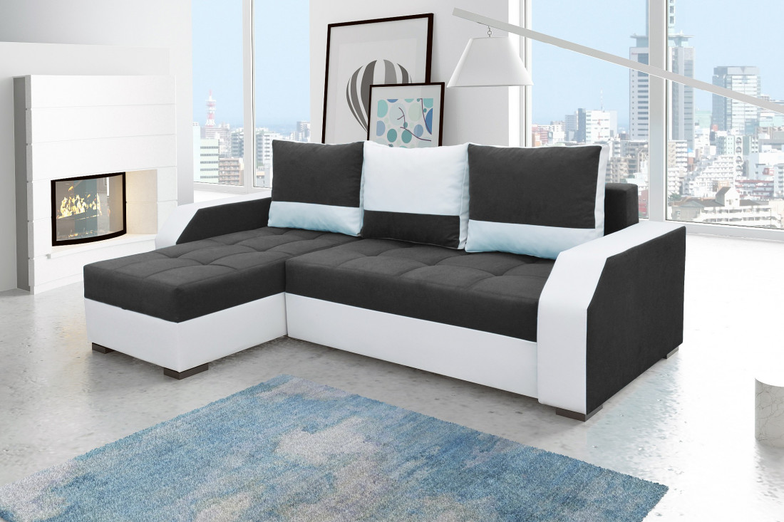 aris canap d 39 angle r versible convertible. Black Bedroom Furniture Sets. Home Design Ideas