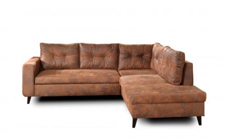 NORDIC - Canapé d'angle L - 5 places - Convertible - Industriel vintage - Droit