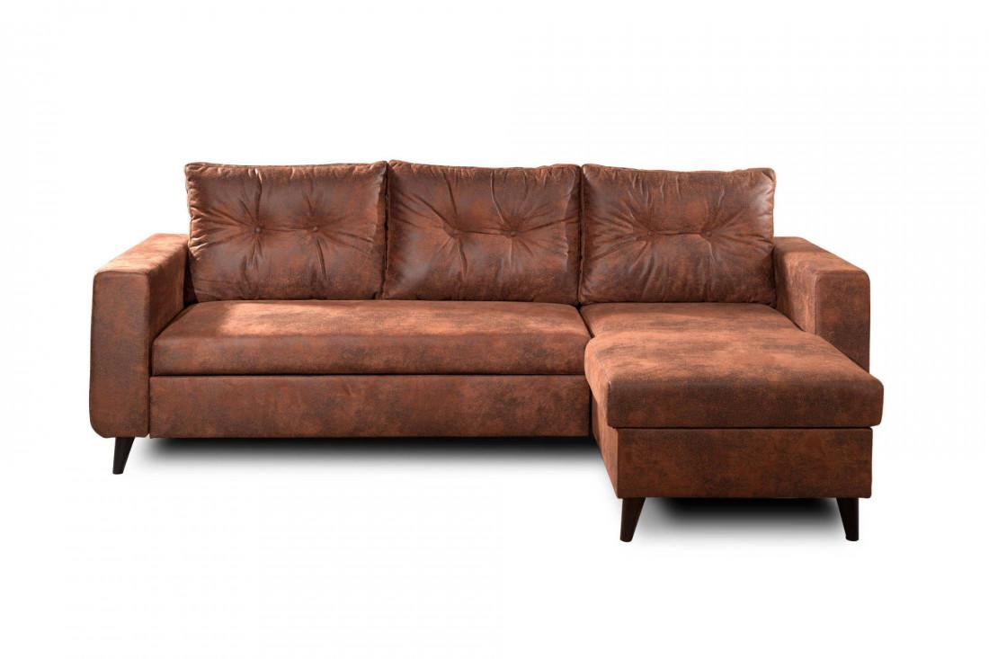 NORDIC - Canapé d'angle réversible - 4 places - Convertible - Industriel vintage