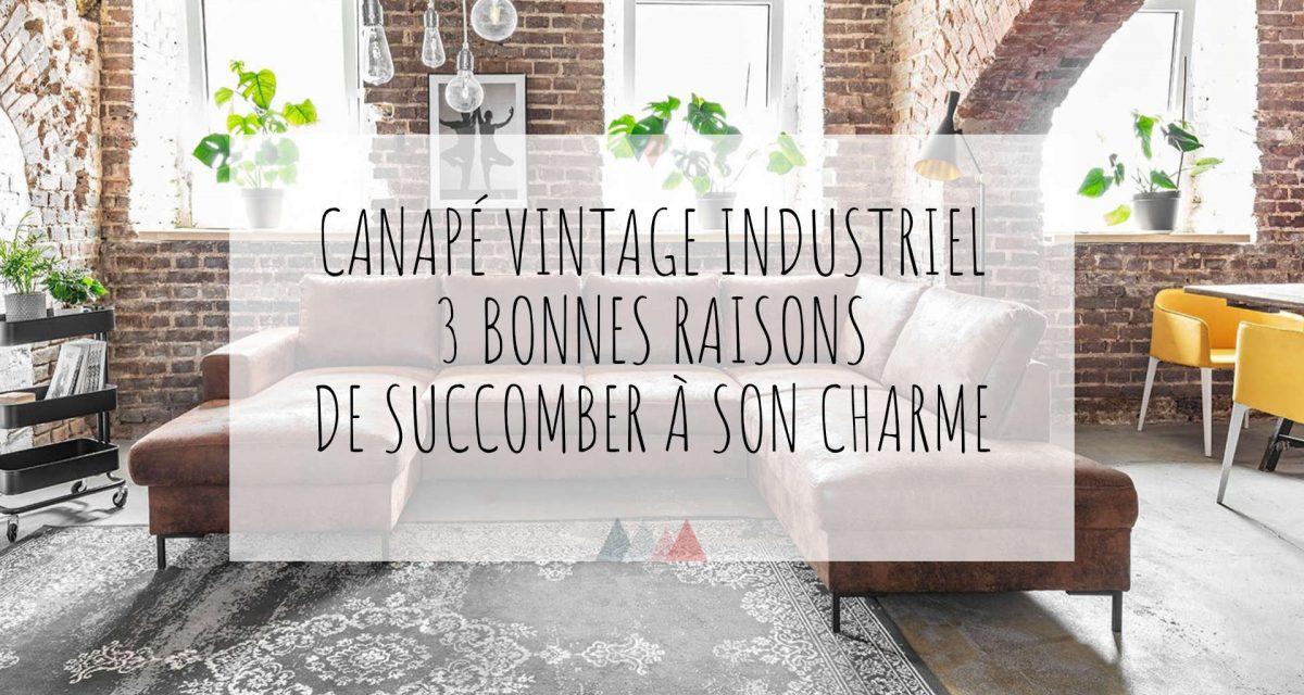 Canapé vintage industriel : 3 bonnes raisons de succomber à son charme