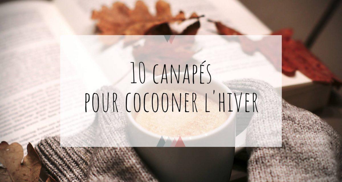10 canapés pour cocooner l'hiver