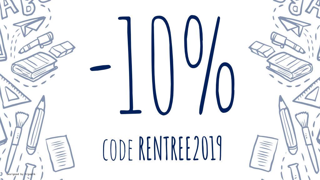Du 30 août au 2 septembre inclus, bénéficiez de -10% sur tout le site !