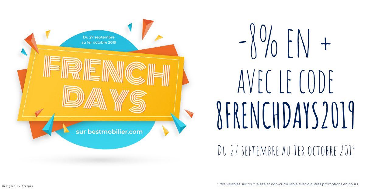 FRENCH DAYS 2019 – Bénéficiez de -8% sur tout le site !