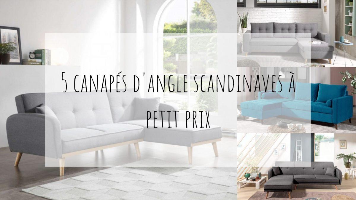 5 canapés d'angle scandinaves pas chers