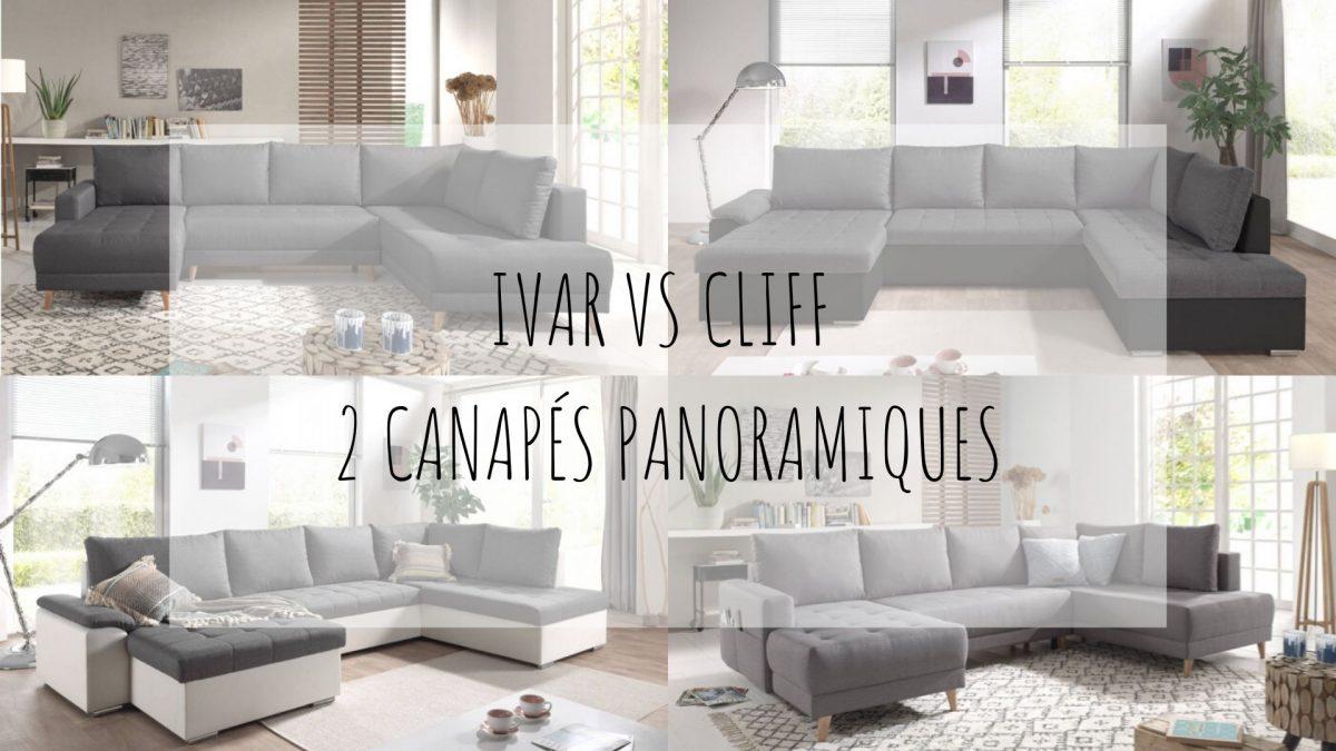 Ivar et Cliff : nos récents canapés panoramiques en U !