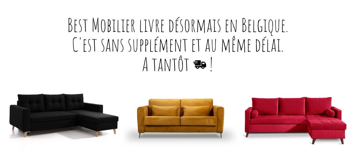 Best Mobilier livre désormais en Belgique !