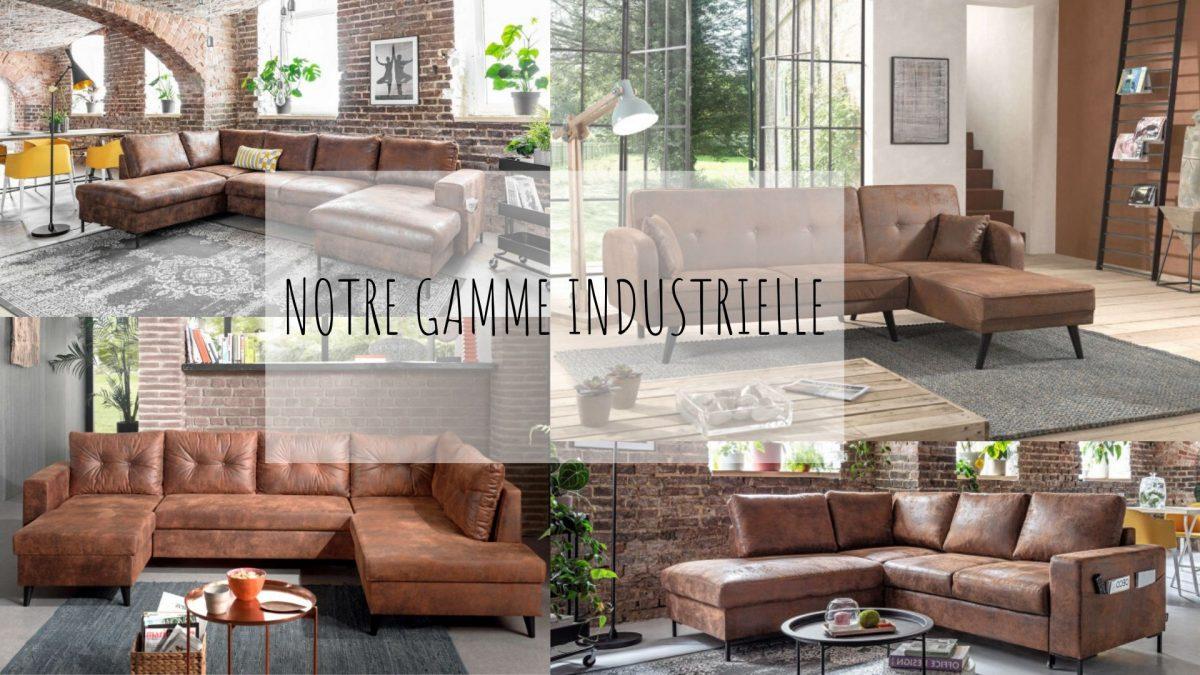 Nos canapés industriels vintages