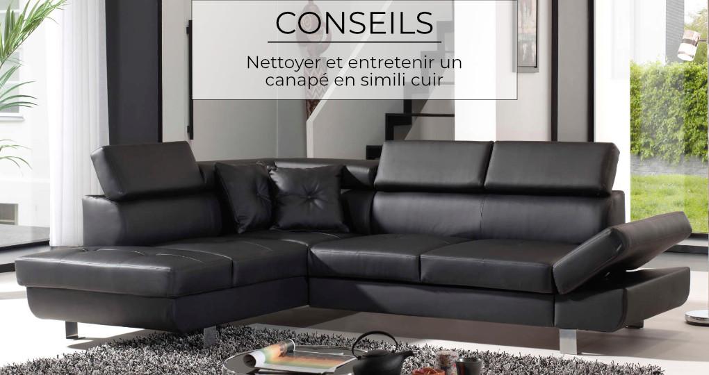 Comment entretenir et nettoyer un canapé en similicuir ?