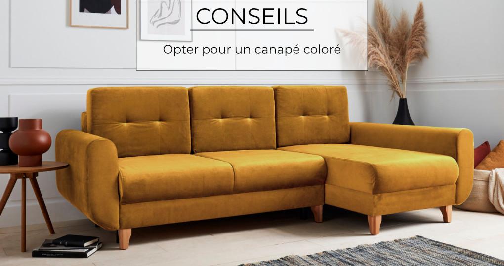 Opter pour un canapé coloré