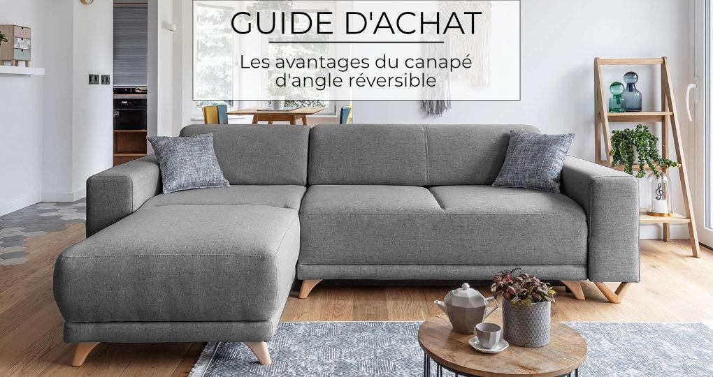 Les avantages du canapé d'angle réversible