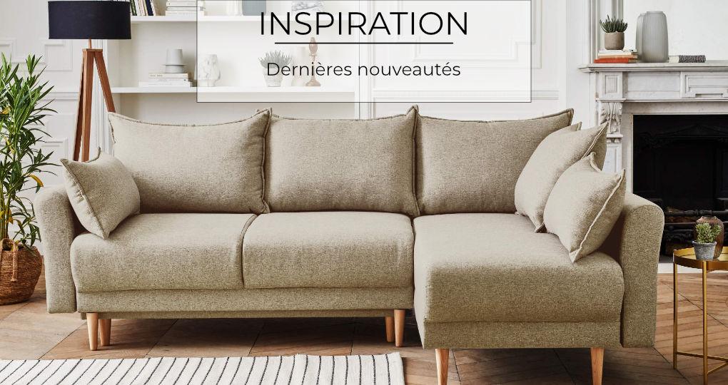 Nos dernières nouveautés : du canapé d'angle au canapé panoramique !