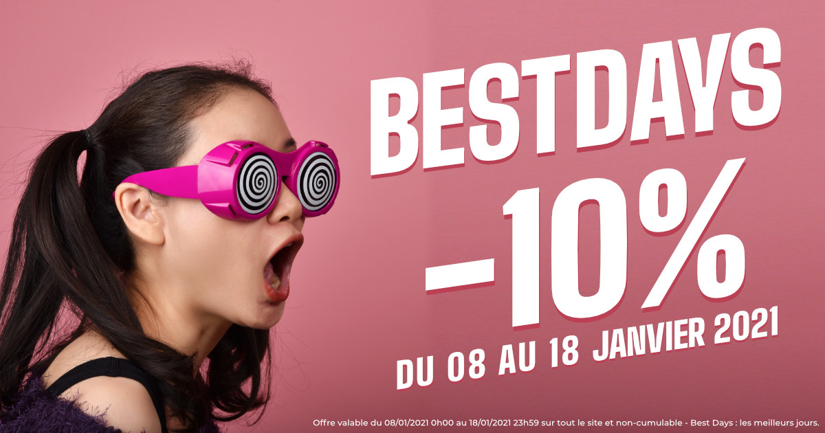 Best Days : -10% sur tout le site !