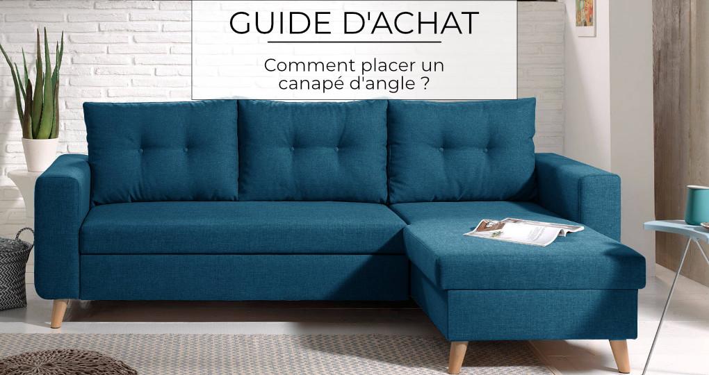 Comment placer un canapé d'angle?