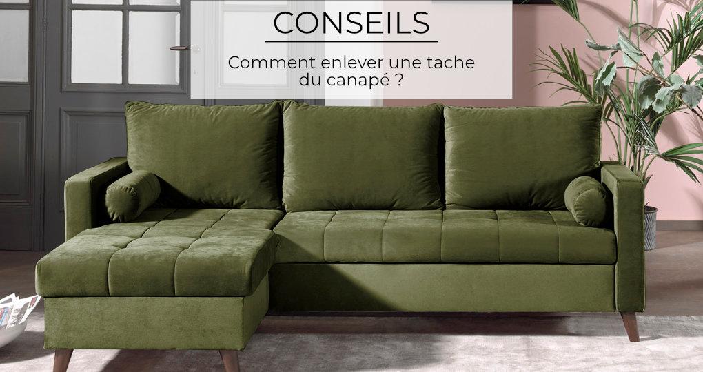 Comment enlever une tache du canapé ?