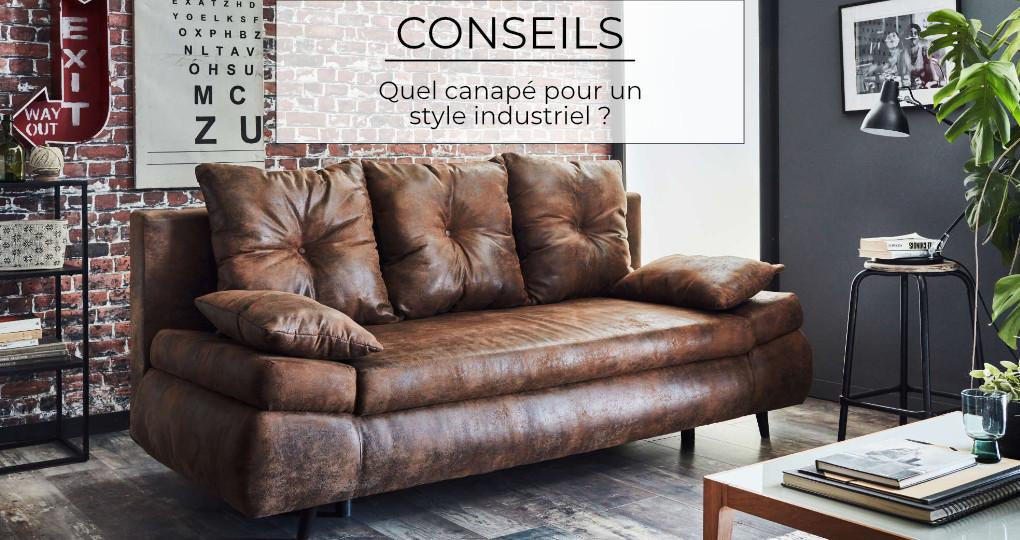 Quel canapé pour un style industriel ?