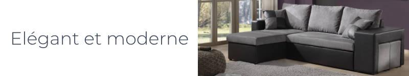 Le canapé d'angle Toledo est moderne et élégant avec ses coloris bi-tons