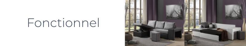 Le canapé d'angle Toledo est fonctionnel et pratique