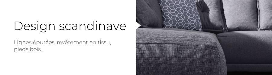 Le design scandinave du canapé d'angle L Lena de chez Bobochic