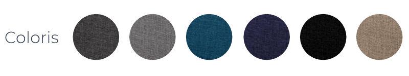 Les coloris du canapé Nordic de chez Best Mobilier : gris, bleu canard, bleu marine, noir et lin