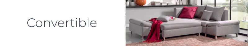 La fonction convertible du canapé d'angle droite Jade