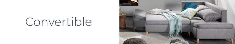 La fonction convertible du canapé d'angle droite Rosa
