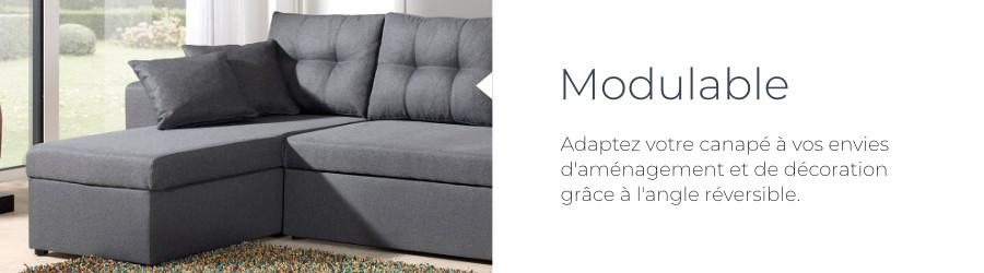 La canapé California de Best Mobilier est pratique grâce à son angle réversible