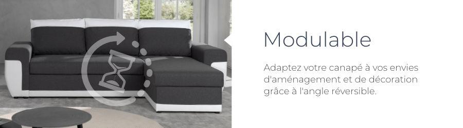 Pratique, le canapé 4 places Milan est équipé d'un angle réversible