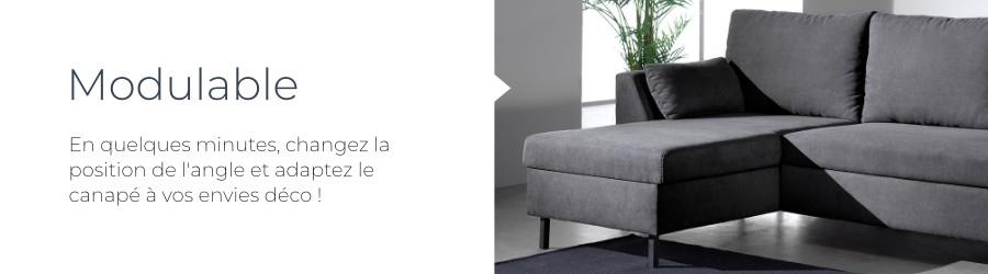Pratique, l'angle réversible du canapé Montana vous permet de changer la position de la méridienne à gauche ou à droite