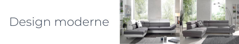 Le design du canapé d'angle droit Lisbona est moderne et élégant