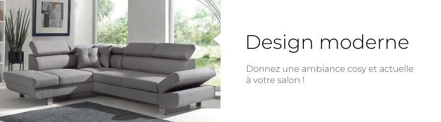 Le canapé Lisbona a un design actuel et contemporain pour une décoration d'intérieur moderne