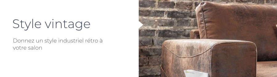 Donnez un style industriel vintage à votre salon avec le canapé d'angle panoramique Lilly