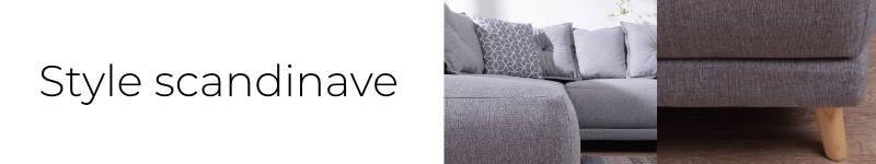 Le canapé panoramique Lena a un design scandinave